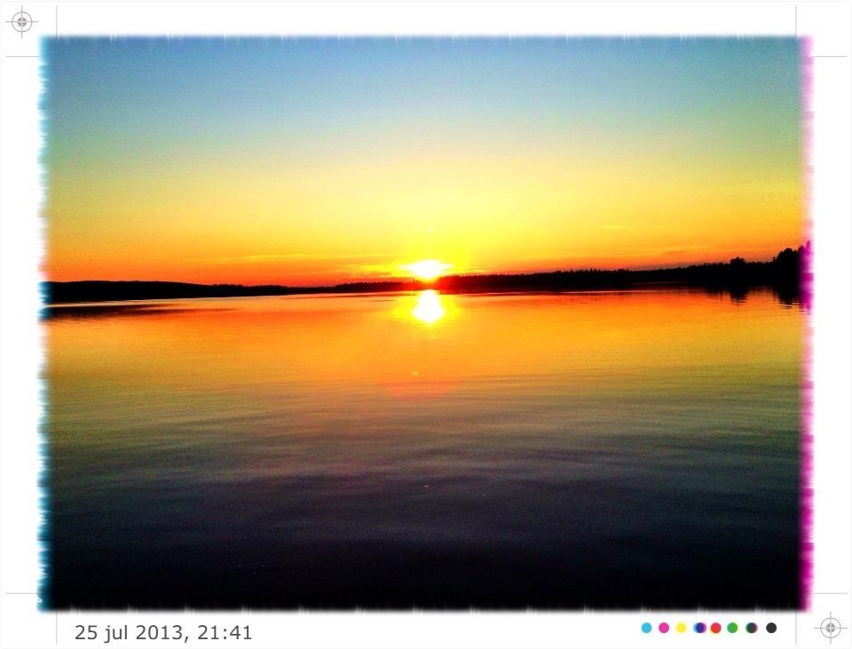 Solnedgång över StorSladan.