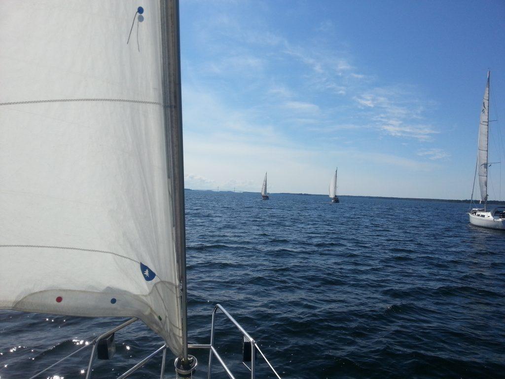 Här har vi lämnat Djupkastet och seglar mot Vaasa